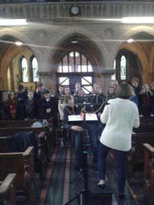 The wonderful Choir rehearsing for the Radio 4 Broadcast