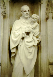 Statue of Oscar Romero outside Westminster Abbey